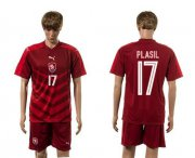 Wholesale Cheap Czech #17 Plasil Red Home Soccer Country Jersey