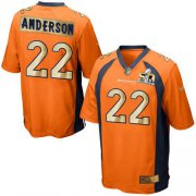 Wholesale Cheap Nike Broncos #22 C.J. Anderson Orange Team Color Men's Stitched NFL Game Super Bowl 50 Collection Jersey
