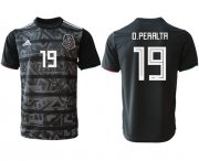 Wholesale Cheap Mexico #19 O.Peralta Black Soccer Country Jersey