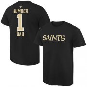 Wholesale Cheap Men's New Orleans Saints Pro Line College Number 1 Dad T-Shirt Black