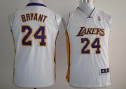 Cheap Los Angeles Lakers #24 Kobe Bryant White Kids Jersey