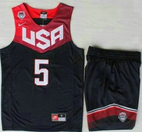 Wholesale Cheap 2014 USA Dream Team #5 Kevin Durant Blue Basketball Jersey Suits