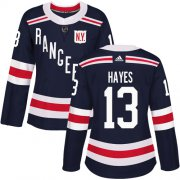 Wholesale Cheap Adidas Rangers #13 Kevin Hayes Navy Blue Authentic 2018 Winter Classic Women's Stitched NHL Jersey