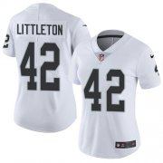 Wholesale Cheap Nike Raiders #42 Cory Littleton White Women's Stitched NFL Vapor Untouchable Limited Jersey