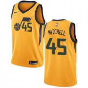 Wholesale Cheap Nike Utah Jazz #45 Donovan Mitchell Yellow NBA Swingman Statement Edition Jersey