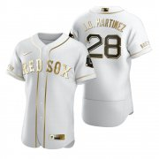 Wholesale Cheap Boston Red Sox #28 J.D. Martinez White Nike Men's Authentic Golden Edition MLB Jersey