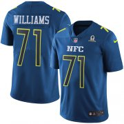 Wholesale Cheap Nike Redskins #71 Trent Williams Navy Youth Stitched NFL Limited NFC 2017 Pro Bowl Jersey