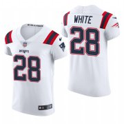 Cheap New England Patriots #28 James White Nike Men's White Team Color Men's Stitched NFL 2020 Vapor Untouchable Elite Jersey