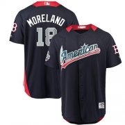 Wholesale Cheap Red Sox #18 Mitch Moreland Navy Blue 2018 All-Star American League Stitched MLB Jersey