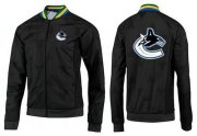 Wholesale NHL Vancouver Canucks Zip Jackets Black-3