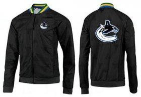 Wholesale Cheap NHL Vancouver Canucks Zip Jackets Black-3
