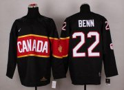 Wholesale Cheap Olympic 2014 CA. #22 Jamie Benn Black Stitched NHL Jersey