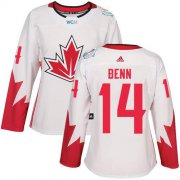 Wholesale Cheap Team Canada #14 Jamie Benn White 2016 World Cup Women's Stitched NHL Jersey