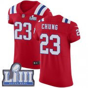 Wholesale Cheap Nike Patriots #23 Patrick Chung Red Alternate Super Bowl LIII Bound Men's Stitched NFL Vapor Untouchable Elite Jersey