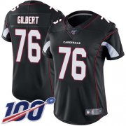 Wholesale Cheap Nike Cardinals #76 Marcus Gilbert Black Alternate Women's Stitched NFL 100th Season Vapor Untouchable Limited Jersey