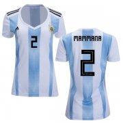 Wholesale Cheap Women's Argentina #2 Mammana Home Soccer Country Jersey
