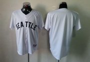 Wholesale Cheap Mariners Blank White 1909 Turn Back The Clock Stitched MLB Jersey