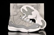 Wholesale Cheap Air Jordan 11 Kid Shoes Light gray/White