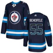 Wholesale Cheap Adidas Jets #55 Mark Scheifele Navy Blue Home Authentic Drift Fashion Stitched NHL Jersey