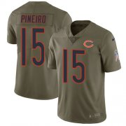 Wholesale Cheap Nike Bears #15 Eddy Pineiro Olive Men's Stitched NFL Limited 2017 Salute To Service Jersey