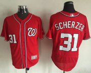 Wholesale Cheap Nationals #31 Max Scherzer Red Flexbase Authentic Collection Stitched MLB Jersey