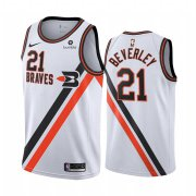 Wholesale Cheap Nike Clippers #21 Patrick Beverley White2019-20 Classic Edition Stitched NBA Jersey