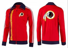 Wholesale Cheap NFL Washington Redskins Team Logo Jacket Red_2