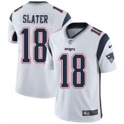 Wholesale Cheap Nike Patriots #18 Matt Slater White Men's Stitched NFL Vapor Untouchable Limited Jersey