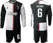 Wholesale Cheap Juventus #6 Khedira Home Long Sleeves Soccer Club Jersey