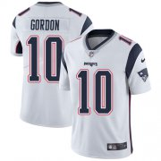 Wholesale Cheap Nike Patriots #10 Josh Gordon White Men's Stitched NFL Vapor Untouchable Limited Jersey