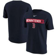 Wholesale Cheap Boston Red Sox #16 Andrew Benintendi Nike Legend Player Name & Number T-Shirt Navy