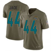 Wholesale Cheap Nike Jaguars #44 Myles Jack Olive Men's Stitched NFL Limited 2017 Salute to Service Jersey