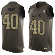 Wholesale Cheap Nike Colts #40 Spencer Ware Green Men's Stitched NFL Limited Salute To Service Tank Top Jersey