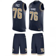 Wholesale Cheap Nike Rams #76 Orlando Pace Navy Blue Team Color Men's Stitched NFL Limited Tank Top Suit Jersey