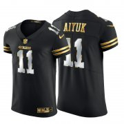 Wholesale Cheap San Francisco 49ers #11 Brandon Aiyuk Men's Nike Black Edition Vapor Untouchable Elite NFL Jersey