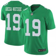 Wholesale Cheap Nike Eagles #19 JJ Arcega-Whiteside Green Men's Stitched NFL Limited Rush Jersey