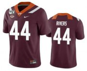 Wholesale Cheap Men's Virginia Tech Hokies #44 Dylan Rivers Maroon 150th College Football Nike Jersey