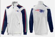 Wholesale Cheap NFL New England Patriots Team Logo Jacket White_3