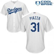 Wholesale Cheap Dodgers #31 Mike Piazza White Cool Base Stitched Youth MLB Jersey