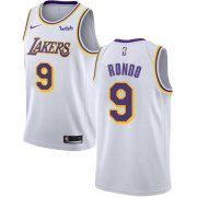 Cheap Lakers #9 Rajon Rondo White Youth Basketball Swingman Association Edition Jersey