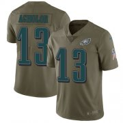 Wholesale Cheap Nike Eagles #13 Nelson Agholor Olive Men's Stitched NFL Limited 2017 Salute To Service Jersey