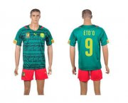 Wholesale Cheap Cameroon #9 Eto'o Home World Cup Soccer Country Jersey