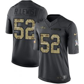 Wholesale Cheap Nike Ravens #52 Ray Lewis Black Men\'s Stitched NFL Limited 2016 Salute to Service Jersey