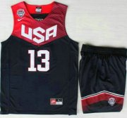 Wholesale Cheap 2014 USA Dream Team #13 James Harden Blue Basketball Jersey Suits