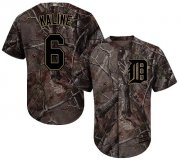 Wholesale Cheap Tigers #6 Al Kaline Camo Realtree Collection Cool Base Stitched Youth MLB Jersey