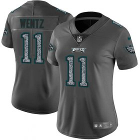 Wholesale Cheap Nike Eagles #11 Carson Wentz Gray Static Women\'s Stitched NFL Vapor Untouchable Limited Jersey