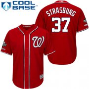 Wholesale Cheap Nationals #37 Stephen Strasburg Red New Cool Base 2019 World Series Champions Stitched MLB Jersey