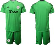 Wholesale Cheap Ajax Blank Shiny Green Goalkeeper Soccer Club Jersey