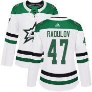 Wholesale Cheap Adidas Stars #47 Alexander Radulov White Road Authentic Women's Stitched NHL Jersey