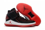 Wholesale Cheap Air Jordan XXXII Retro Shoes Black/red-white